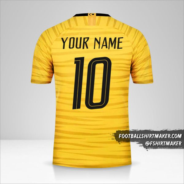 Malaysia jersey 2018 number 10 your name