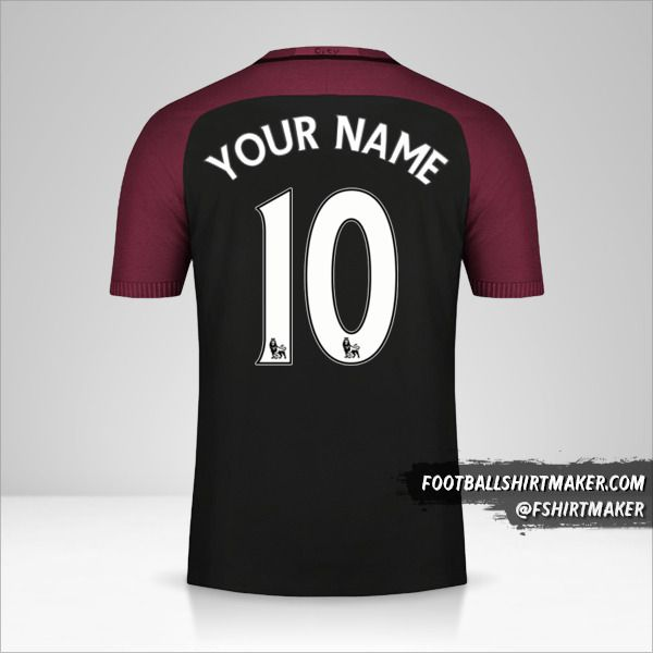 Manchester City 2016/17 II jersey number 10 your name