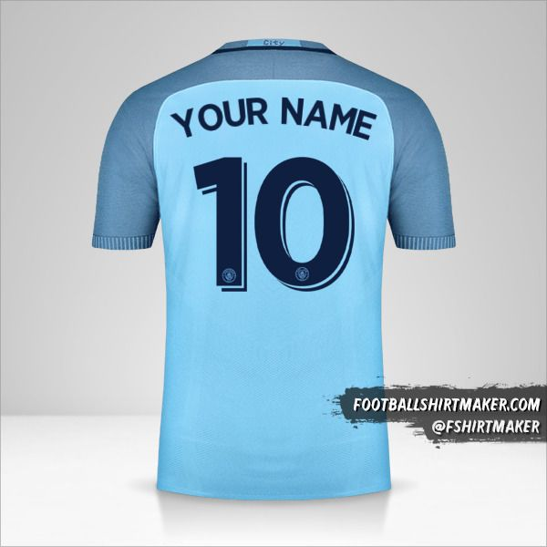 Manchester City 2016/17 Cup jersey number 10 your name