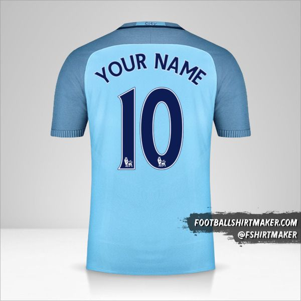 Manchester City 2016/17 jersey number 10 your name