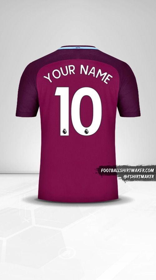 Manchester City 2017/18 II jersey number 10 your name