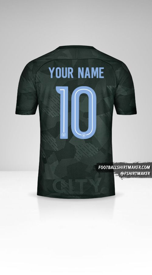 Manchester City 2017/18 Cup III jersey number 10 your name