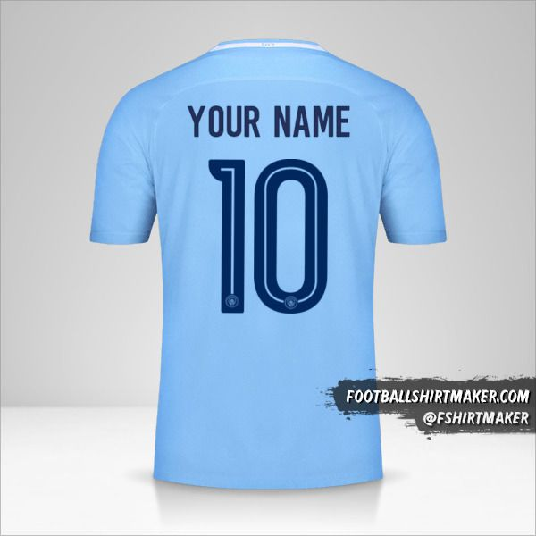 Manchester City 2017/18 Cup jersey number 10 your name