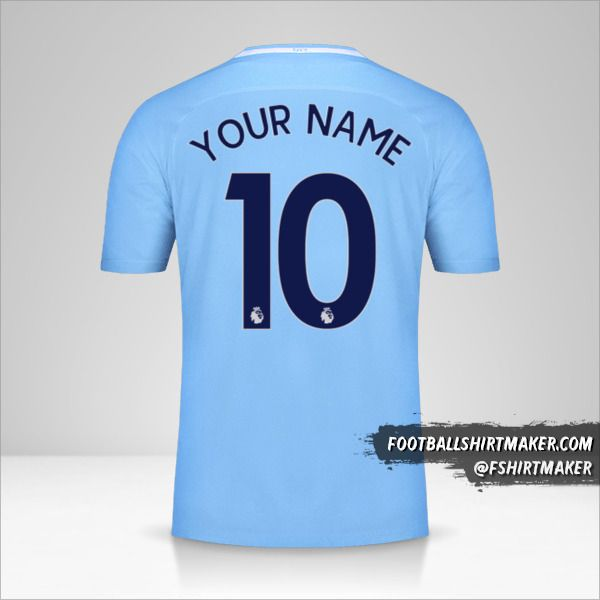 Manchester City 2017/18 jersey number 10 your name