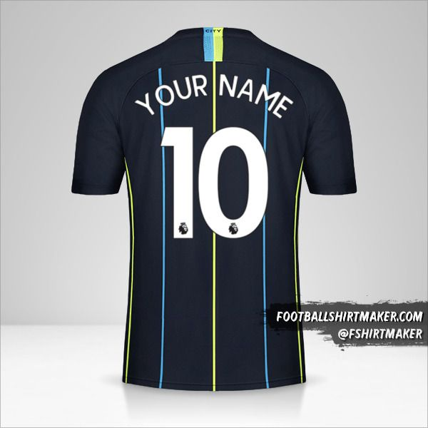 Manchester City 2018/19 II jersey number 10 your name