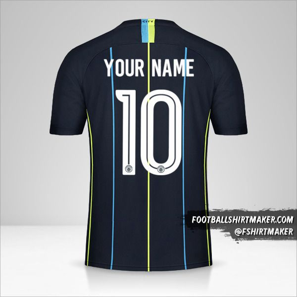 Manchester City 2018/19 Cup II jersey number 10 your name