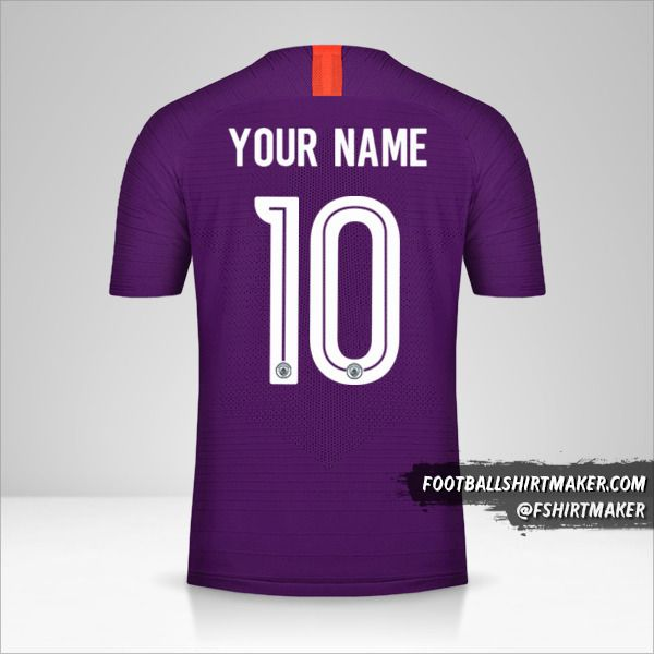 Manchester City 2018/19 Cup III jersey number 10 your name