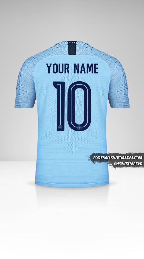 Manchester City 2018/19 Cup jersey number 10 your name
