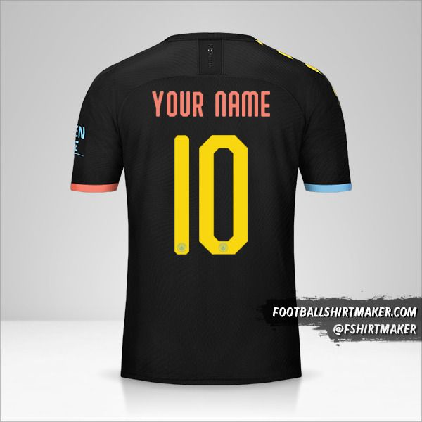 Manchester City 2019/20 Cup II jersey number 10 your name
