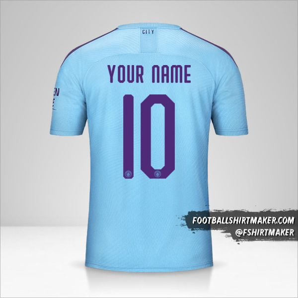 Manchester City 2019/20 Cup jersey number 10 your name