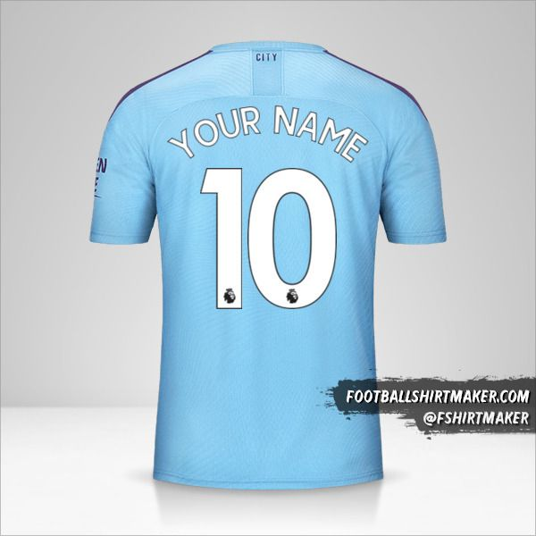 Manchester City 2019/20 jersey number 10 your name