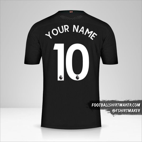 Manchester City 2020/21 II jersey number 10 your name