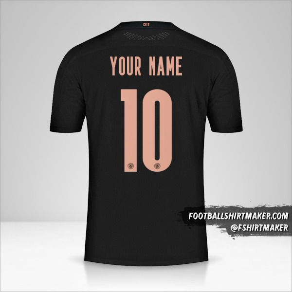 Manchester City 2020/21 Cup II jersey number 10 your name