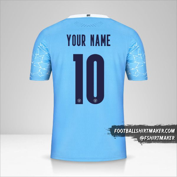 Manchester City 2020/21 Cup jersey number 10 your name