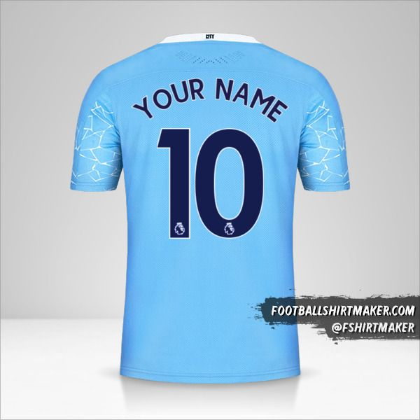 Manchester City 2020/21 jersey number 10 your name