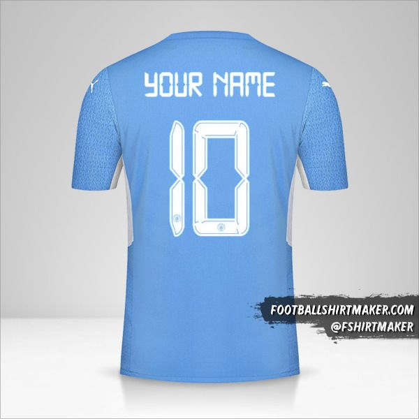 Manchester City 2021/2022 Cup jersey number 10 your name