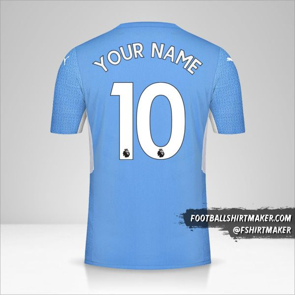 Manchester City 2021/2022 jersey number 10 your name