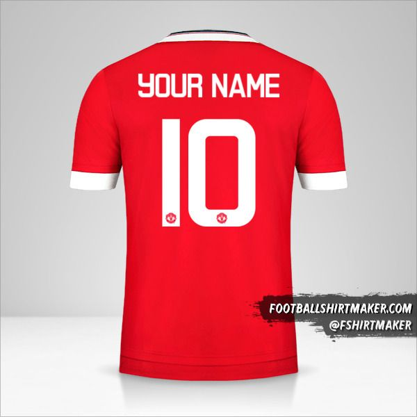 Manchester United 2015/16 Cup jersey number 10 your name