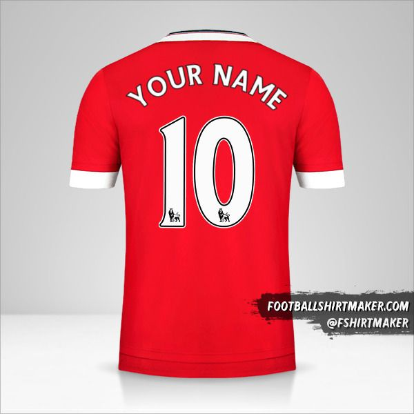 Manchester United 2015/16 jersey number 10 your name