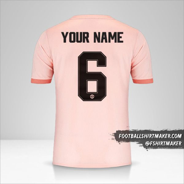 Manchester United 2018/19 Cup II jersey number 6 your name