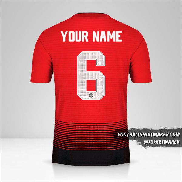 Manchester United 2018/19 Cup jersey number 6 your name
