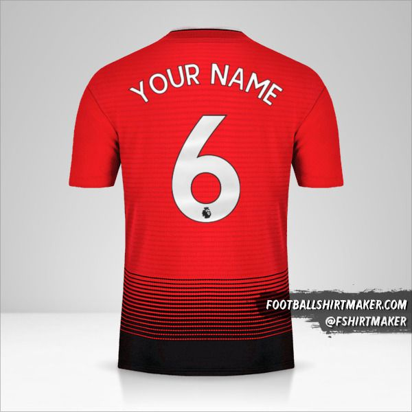 Manchester United 2018/19 jersey number 6 your name