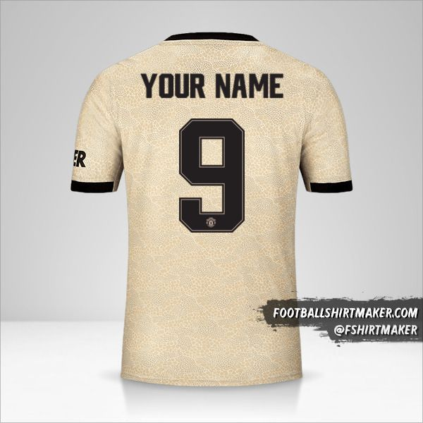 Manchester United 2019/20 Cup II jersey number 9 your name