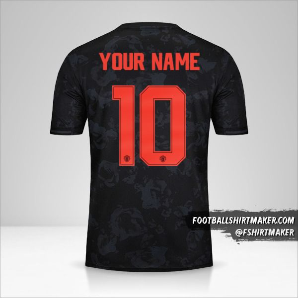 Manchester United 2019/20 Cup III jersey number 10 your name