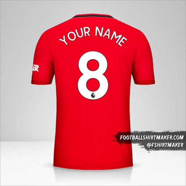Manchester United jersey 2019/20 number 8 your name