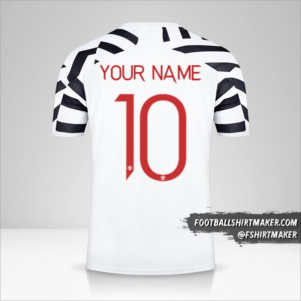 Manchester United 2020/21 Cup III jersey number 10 your name