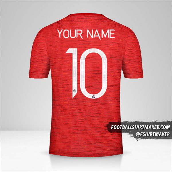 Manchester United 2020/21 Cup jersey number 10 your name