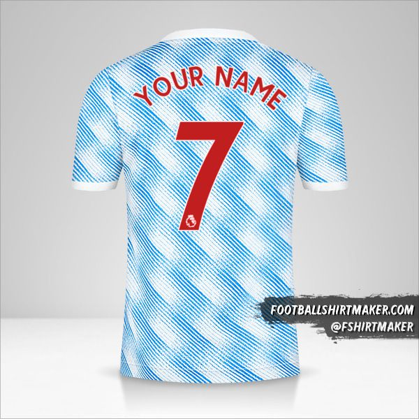 Manchester United 2021/2022 II jersey number 7 your name