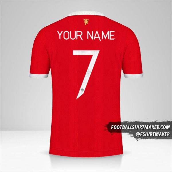 Manchester United 2021/2022 Cup jersey number 7 your name