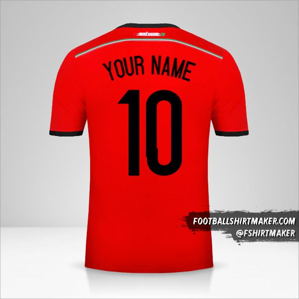 Mexico 2014 II jersey number 10 your name