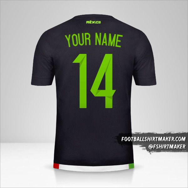 Mexico 2015 jersey number 14 your name