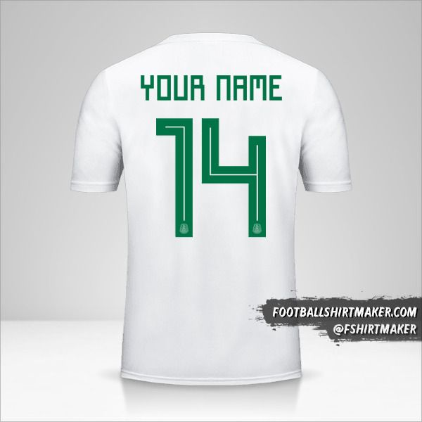 Mexico 2018 II jersey number 14 your name