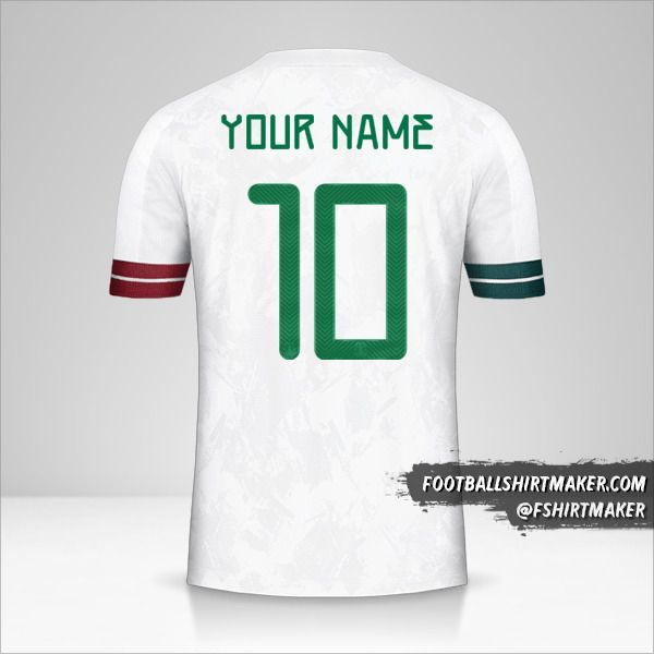 Mexico 2020 II jersey number 10 your name