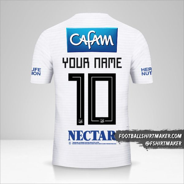 Millonarios FC 2018 II jersey number 10 your name