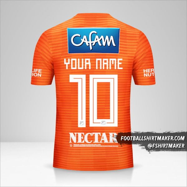 Millonarios FC 2018 III jersey number 10 your name