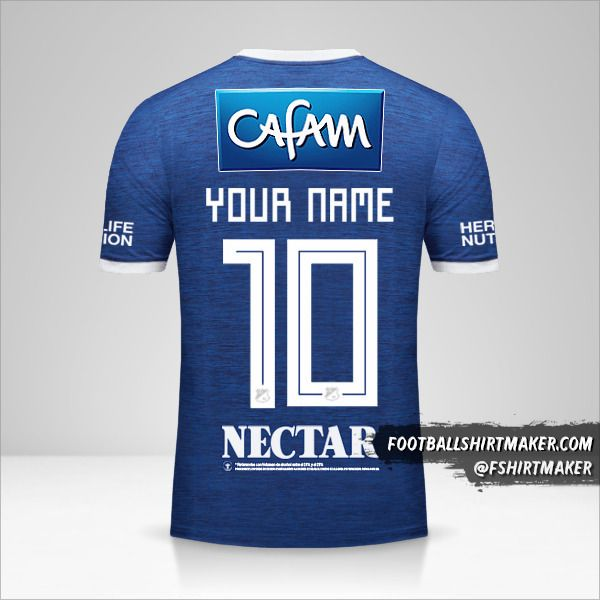 Millonarios FC 2018 jersey number 10 your name