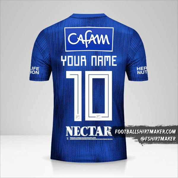 Millonarios FC jersey 2019 number 10 your name