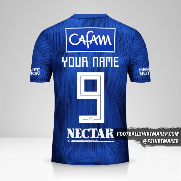 Millonarios FC jersey 2019 number 9 your name