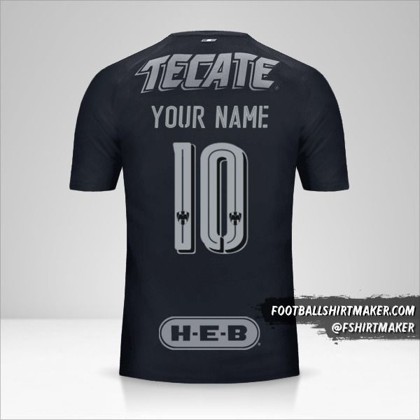 Monterrey 2017/18 II jersey number 10 your name