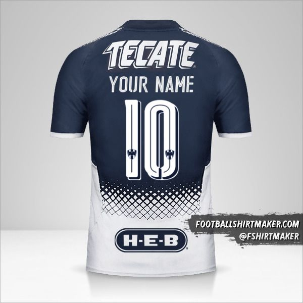 Monterrey 2017/18 jersey number 10 your name