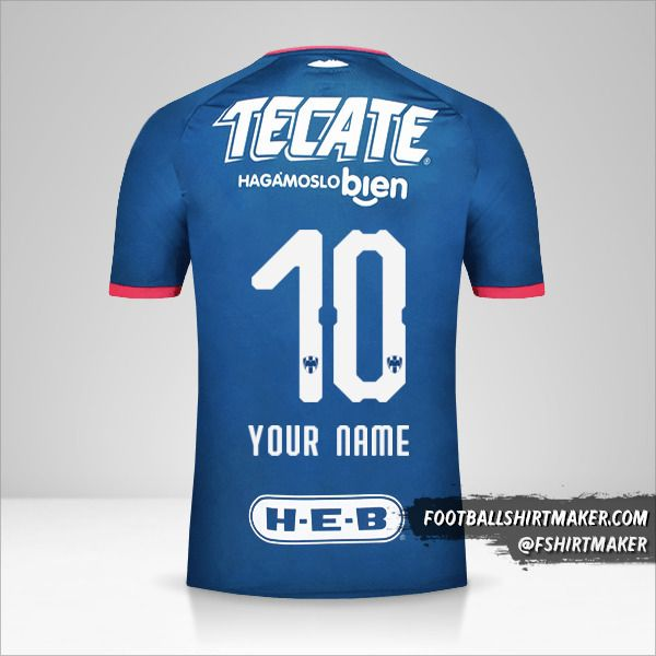 Monterrey 2018/19 II jersey number 10 your name