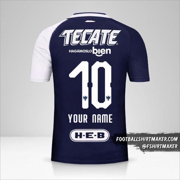 Monterrey 2018/19 III jersey number 10 your name