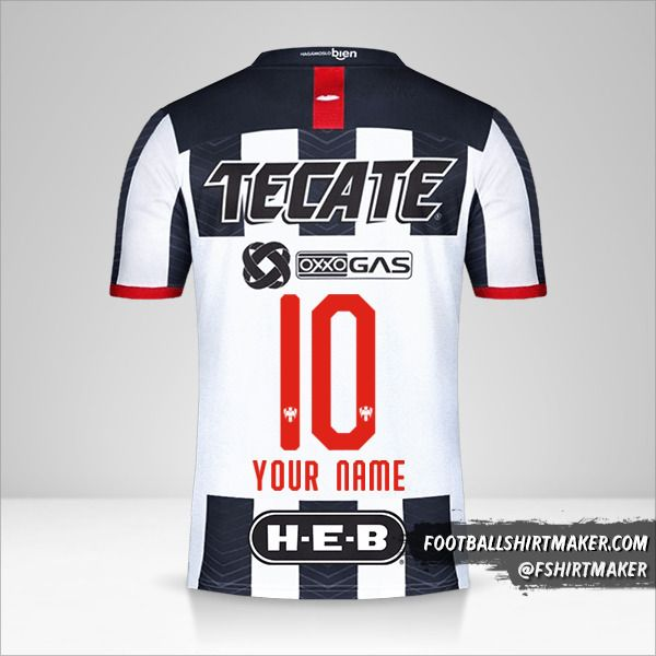 Monterrey jersey 2019/20 number 10 your name
