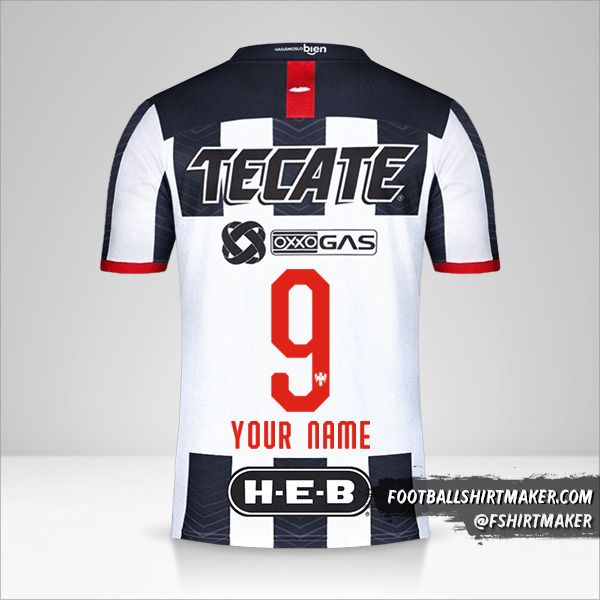 Monterrey 2019/20 jersey number 9 your name