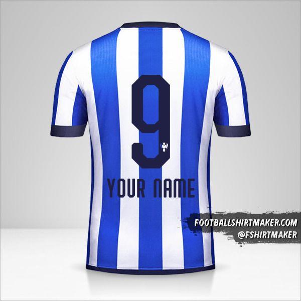 Monterrey Mundial de Clubes 2019 jersey number 9 your name