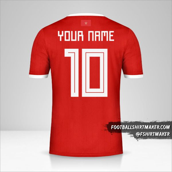 Morocco 2018 jersey number 10 your name